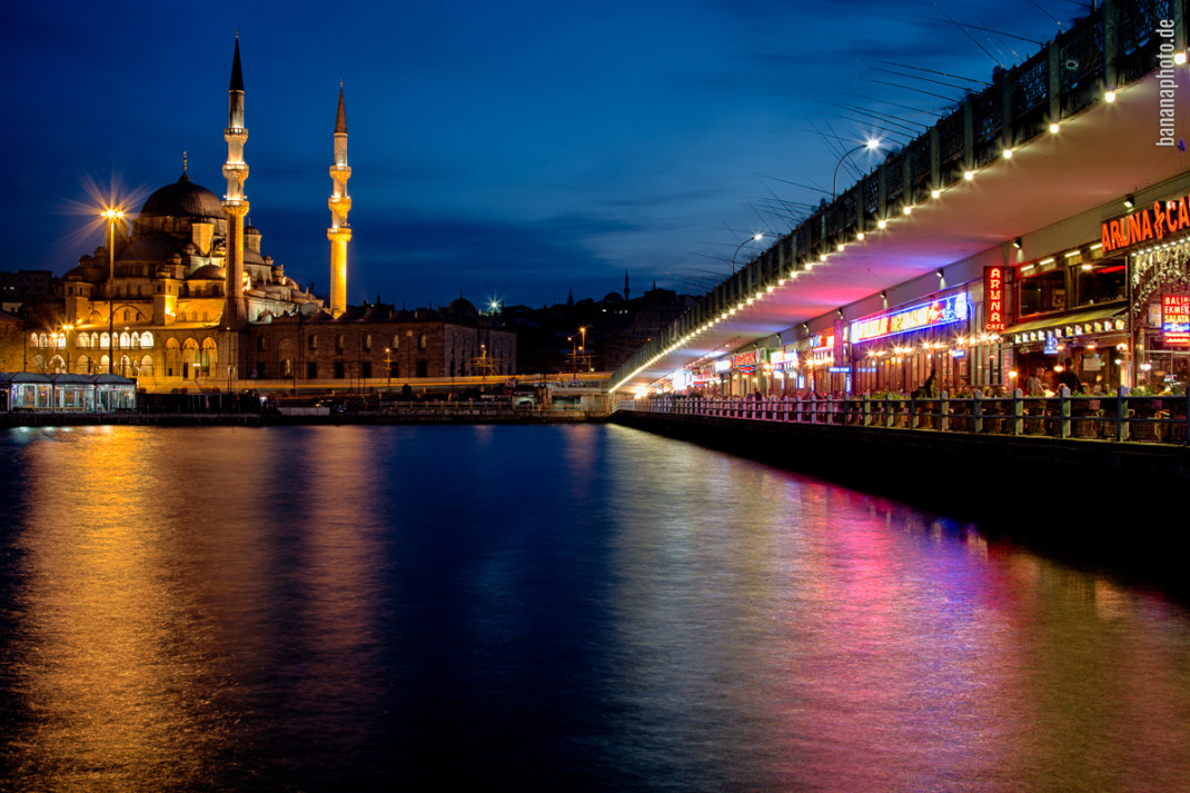Galata Bridge and new mosque